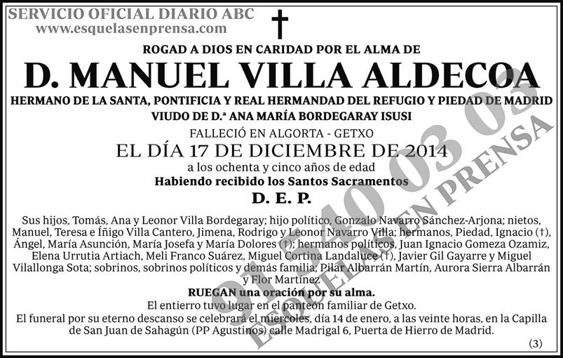 Manuel Villa Aldecoa